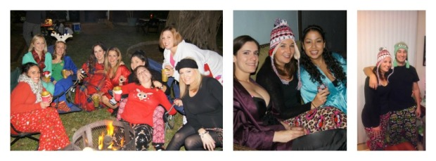 Xmas PJ Party Collage