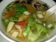 veg tofu soup