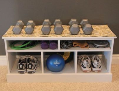 workout gear storage